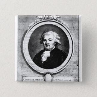 Portrait of Jean-Anthelme Brillat-Savarin 15 Cm Square Badge