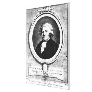 Portrait of Jean-Anthelme Brillat-Savarin Canvas Print