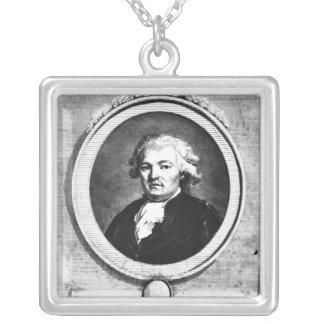 Portrait of Jean-Anthelme Brillat-Savarin Silver Plated Necklace