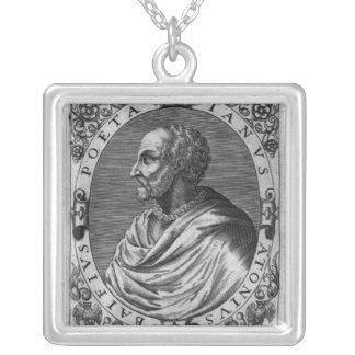 Portrait of Jean Antoine de Baif Silver Plated Necklace