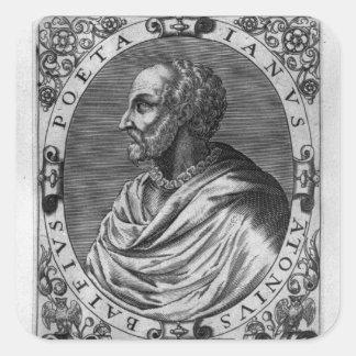 Portrait of Jean Antoine de Baif Square Sticker