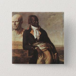 Portrait of Jean-Baptiste Belley 15 Cm Square Badge