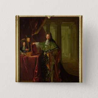 Portrait of Jean-Baptiste Colbert 15 Cm Square Badge