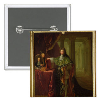 Portrait of Jean-Baptiste Colbert 15 Cm Square Badge