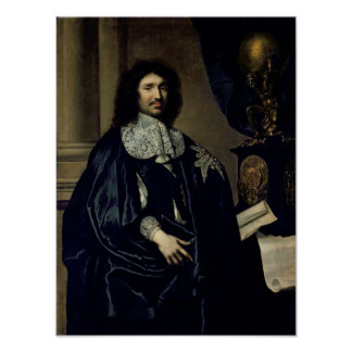 Portrait of Jean-Baptiste Colbert de Torcy  1666 Print