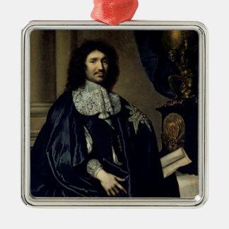 Portrait of Jean-Baptiste Colbert de Torcy  1666 Silver-Colored Square Decoration