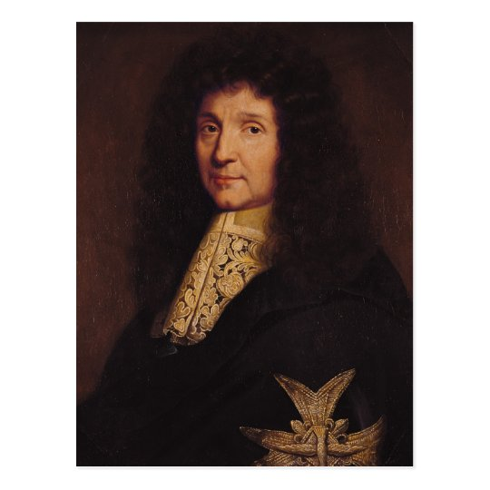 Portrait of Jean-Baptiste Colbert de Torcy  1667 Postcard