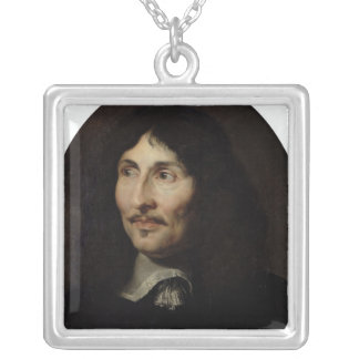 Portrait of Jean-Baptiste Colbert de Torcy Silver Plated Necklace