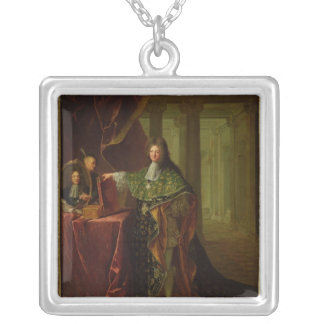 Portrait of Jean-Baptiste Colbert Silver Plated Necklace