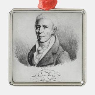 Portrait of Jean-Baptiste de Monet Silver-Colored Square Decoration