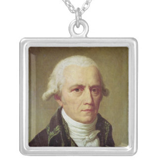 Portrait of Jean-Baptiste de Monet Silver Plated Necklace