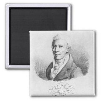 Portrait of Jean-Baptiste de Monet Square Magnet