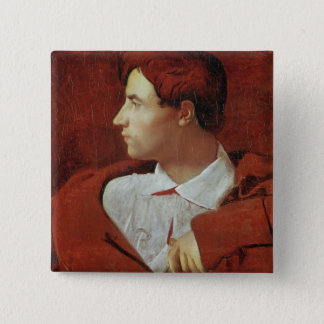Portrait of Jean-Baptiste Desdeban  c.1810 15 Cm Square Badge