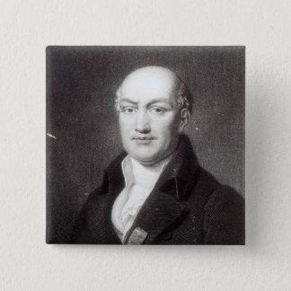 Portrait of Jean Baptiste Joseph Delambre 15 Cm Square Badge