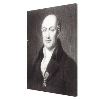 Portrait of Jean Baptiste Joseph Delambre Canvas Print