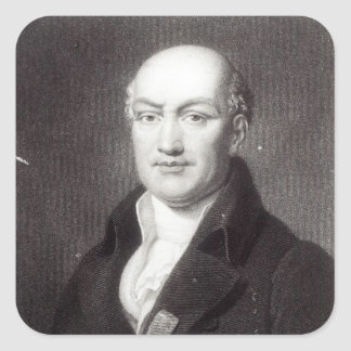 Portrait of Jean Baptiste Joseph Delambre Square Sticker