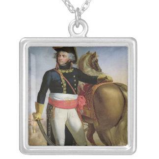 Portrait of Jean Baptiste Kleber Silver Plated Necklace