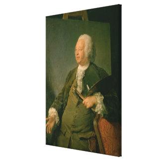 Portrait of Jean-Baptiste Oudry (1686-1755) c.1753 Canvas Print