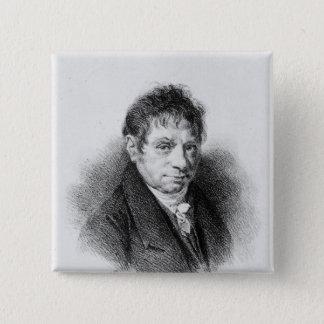 Portrait of Jean Baptiste Say 15 Cm Square Badge