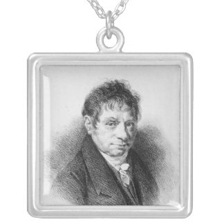 Portrait of Jean Baptiste Say Silver Plated Necklace