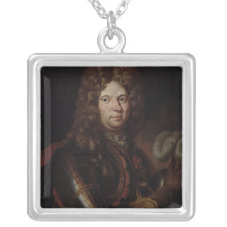 Portrait of Jean Bart Silver Plated Necklace