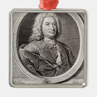 Portrait of Jean Bernoulli  engraved by Silver-Colored Square Decoration