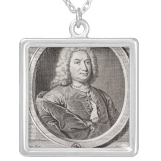 Portrait of Jean Bernoulli  engraved by Silver Plated Necklace