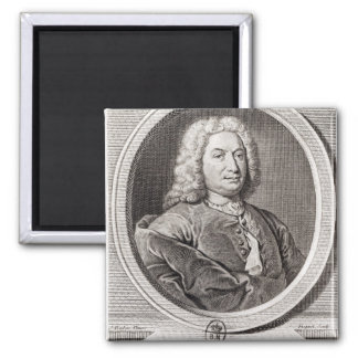 Portrait of Jean Bernoulli  engraved by Square Magnet