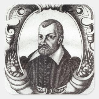 Portrait of Jean Bodin Square Sticker