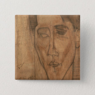 Portrait of Jean Cocteau (1889-1963) 1917 (pencil 15 Cm Square Badge