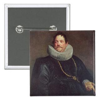 Portrait of Jean de Montfort 15 Cm Square Badge