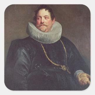 Portrait of Jean de Montfort Square Sticker