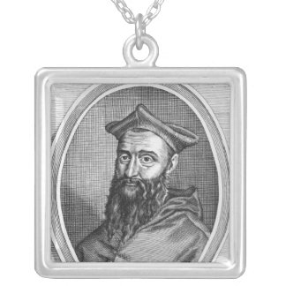 Portrait of Jean du Bellay Silver Plated Necklace