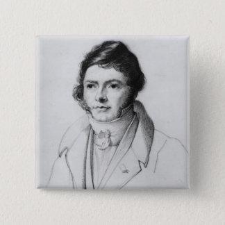 Portrait of Jean-Francois Champollion , 1830 15 Cm Square Badge
