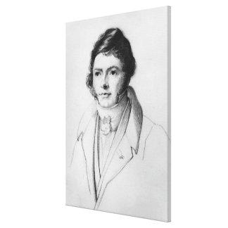 Portrait of Jean-Francois Champollion , 1830 Canvas Print