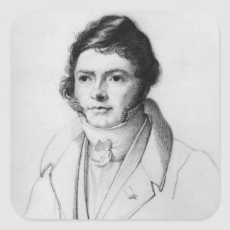 Portrait of Jean-Francois Champollion , 1830 Square Sticker