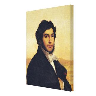 Portrait of Jean-Francois Champollion  1831 Canvas Print