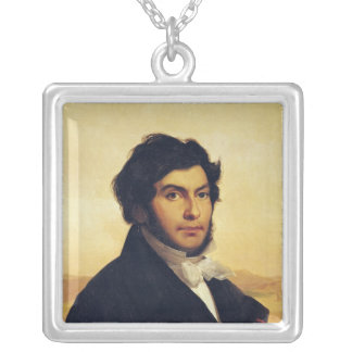 Portrait of Jean-Francois Champollion  1831 Silver Plated Necklace
