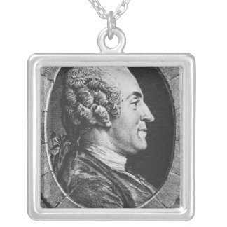 Portrait of Jean Francois Marmontel Silver Plated Necklace