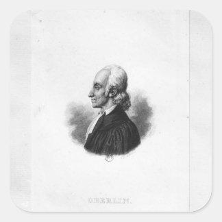 Portrait of Jean Frederic Oberlin Square Sticker