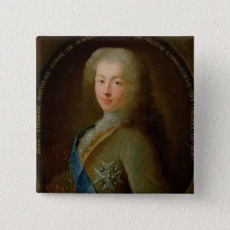 Portrait of Jean Frederic Phelypeaux 15 Cm Square Badge