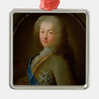 Portrait of Jean Frederic Phelypeaux Silver-Colored Square Decoration