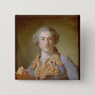 Portrait of Jean-Georges Noverre , 1764 15 Cm Square Badge