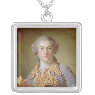 Portrait of Jean-Georges Noverre , 1764 Silver Plated Necklace