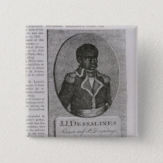Portrait of Jean-Jacques Dessalines 15 Cm Square Badge