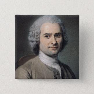 Portrait of Jean Jacques Rousseau 15 Cm Square Badge