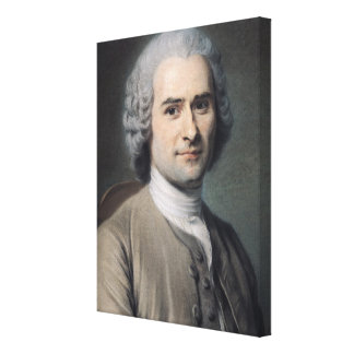 Portrait of Jean Jacques Rousseau Canvas Print