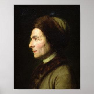 Portrait of Jean-Jacques Rousseau Poster
