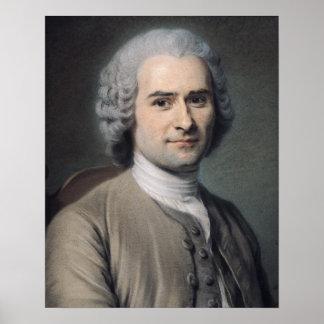 Portrait of Jean Jacques Rousseau Poster