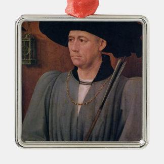 Portrait of Jean Lefevre de Saint-Remy Silver-Colored Square Decoration